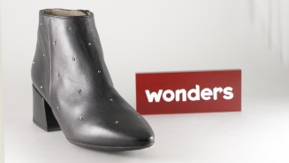 Wonders Botin Medio Negro Remachitos Botas Mujer