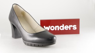 WONDERS SALON NEGRO TACON MEDIO GRUESO