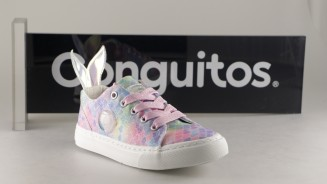 Zapatos Conguitos Canvas Glitter Multicolor Colita Sirena Niña