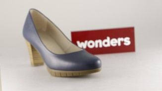 WONDERS SALON LISO AZUL BALTICO TACON MEDIO
