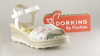 DORKING BY FLUCHOS SANDALIA CUÑA BAJA MULTICOLOR