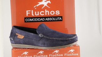 FLUCHOS MOCASIN MARINO BORDO LISO