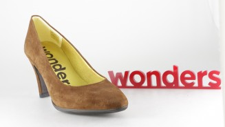 WONDERS SALON ANTE MARRON TACON MEDIO FORRADO