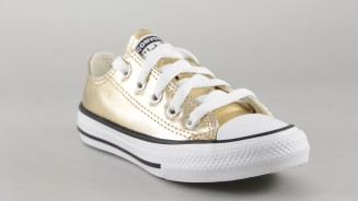 CONVERSE CANVAS CORDON DORADO METALIZADO