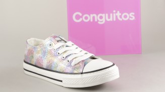 CONGUITOS CANVAS CORDON GLITTER MULTICOLOR