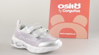 OSITO BY CONGUITOS DEPORTIVO PLATA LUCES